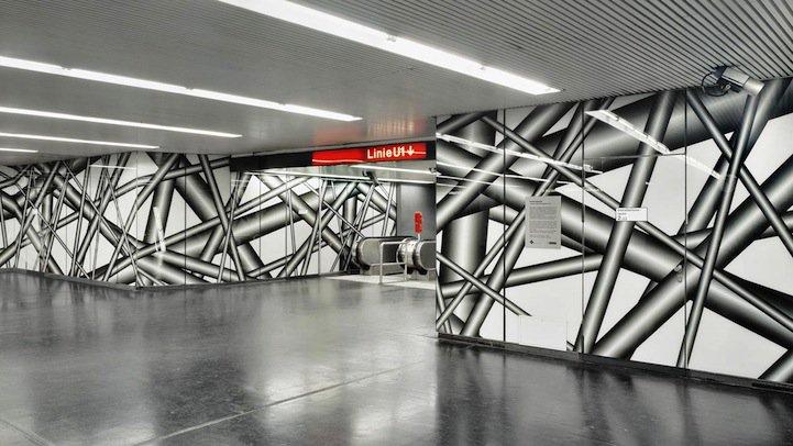Parece mágica: Artista cria galerias inteiras com ilusão de óptica