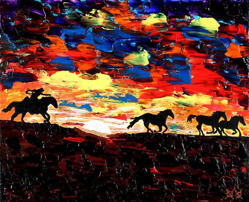 Incrível: homem fica cego e faz pinturas maravilhosas