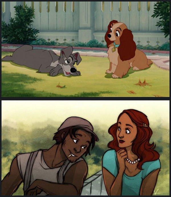 Veja como os animais da Disney seriam se fossem humanos