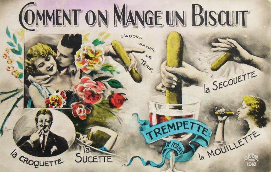 Cartão francês: a ousada pornografia de 1920