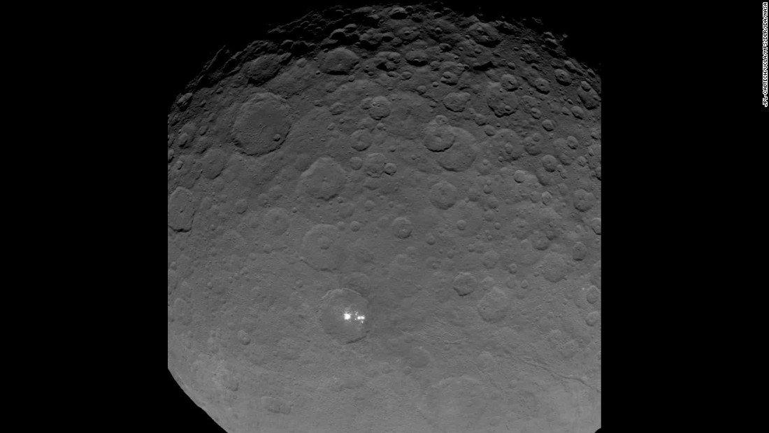 Os pontos luminosos em Ceres