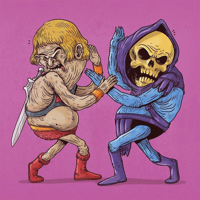 He-Man e Esqueleto