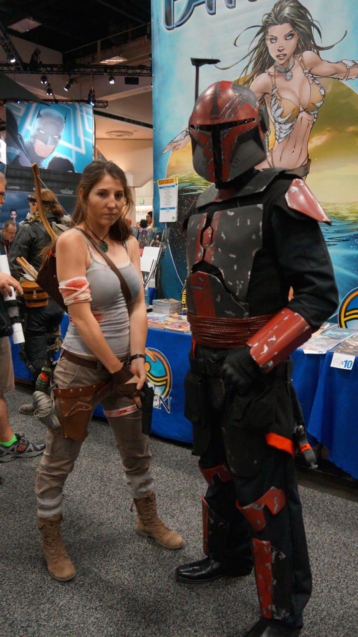Lara Croft e Mandaloriano