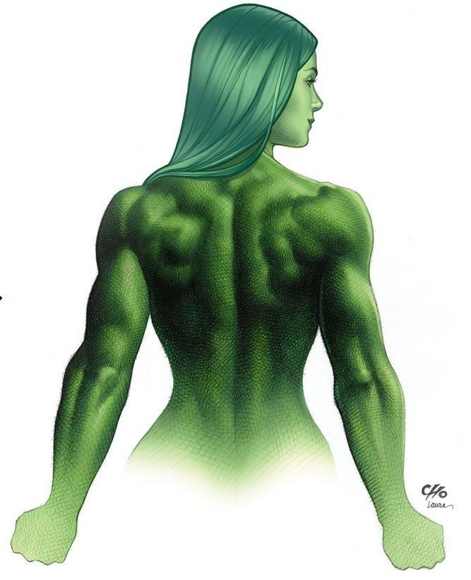 Mulher-Hulk, por Frank Cho