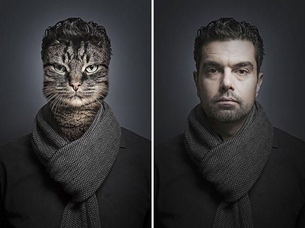 E se cães e gatos fossem vestidos como seus donos?