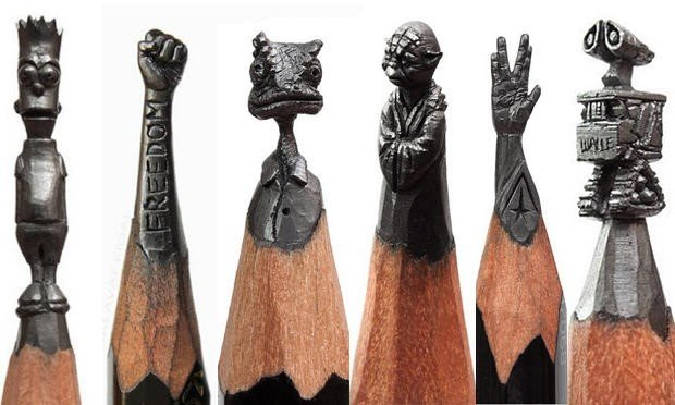 Miniaturas inacreditáveis feitas em pontas de lápis