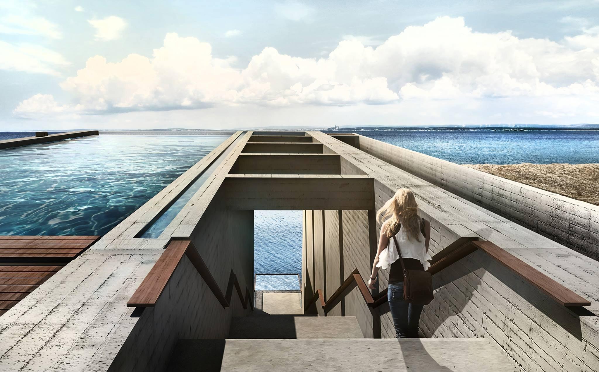 Conheça a casa subterrânea com piscina no topo e vista incrível do mar