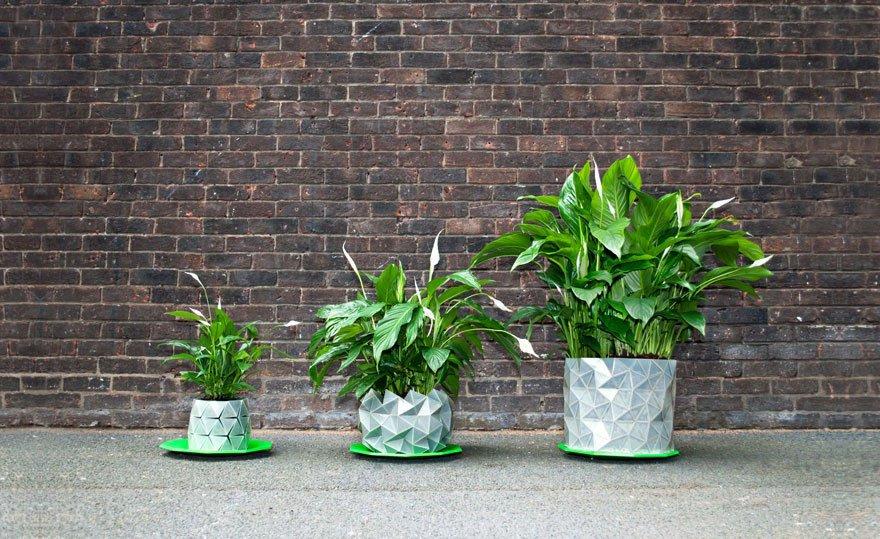 """Que tal um """"vaso-origami"""" para ornamentar seu jardim? [galeria]"""
