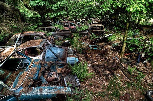 Cemitérios de aviões e carros: memórias da Segunda Guerra Mundial