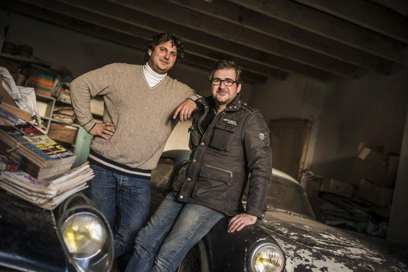Matthieu Lamoure e Pierre Novikoff, os descobridores da coleção