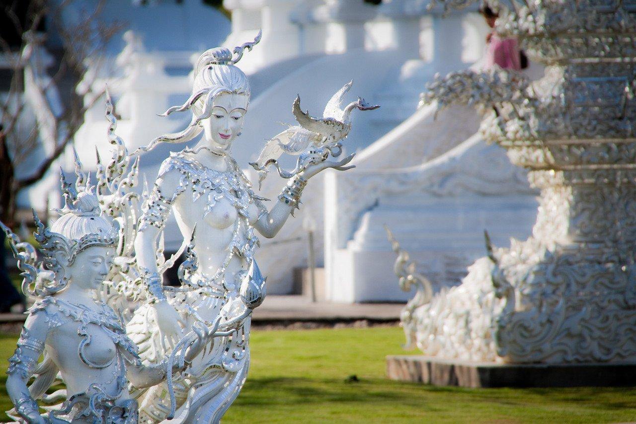 Ricos detalhes nas esculturas