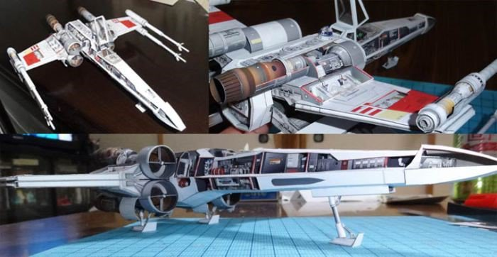Artista japonês cria naves espaciais impressionantes feitas de papel