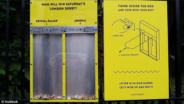 Campanha para livrar Londres de bitucas faz enquete sobre Messi e Ronaldo