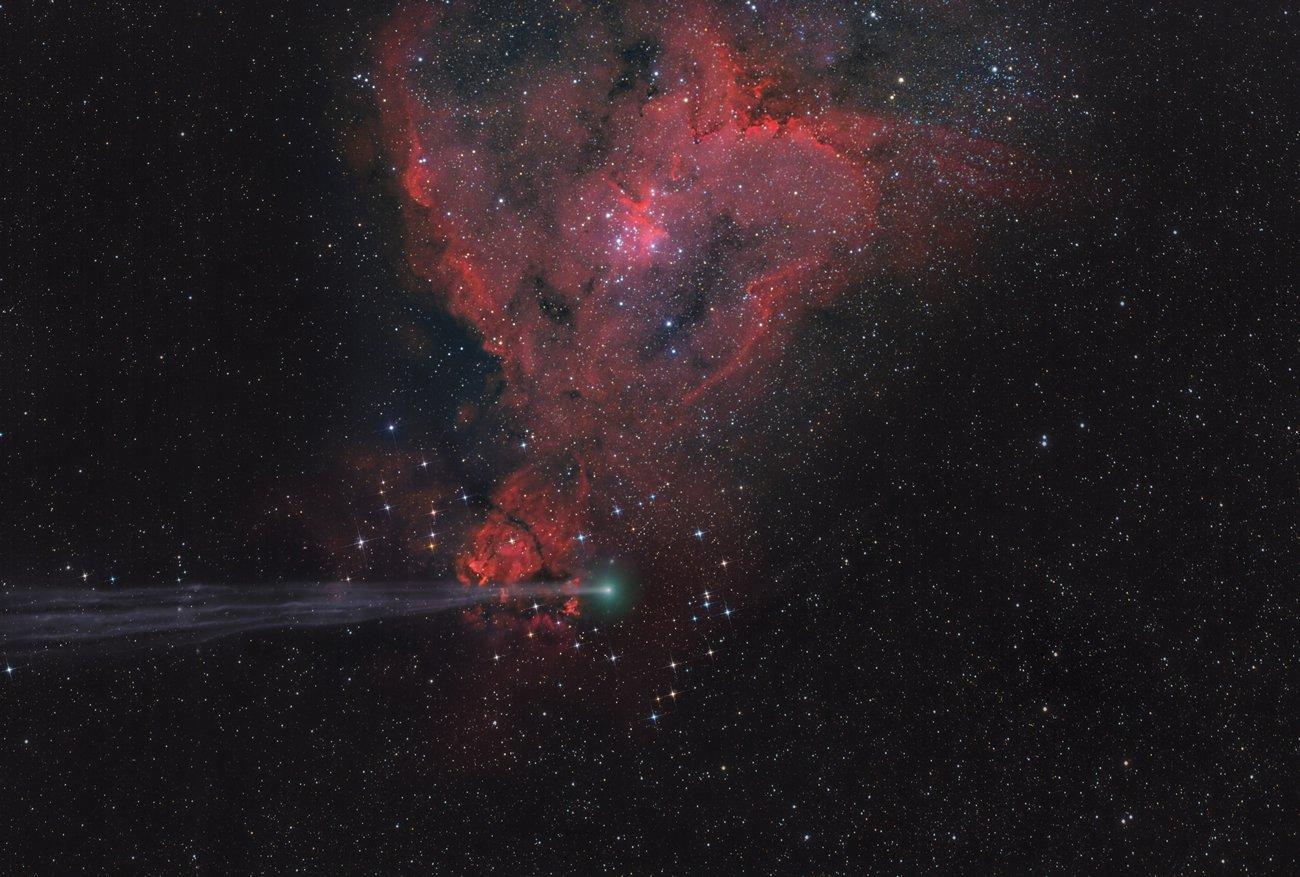 Vencedor na categoria Planets, Comets and Asteroids - The Arrow Missed the Heart por Lefteris Velissaratos (Grécia)