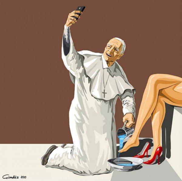 Artista retrata líderes mundiais de maneira mórbida