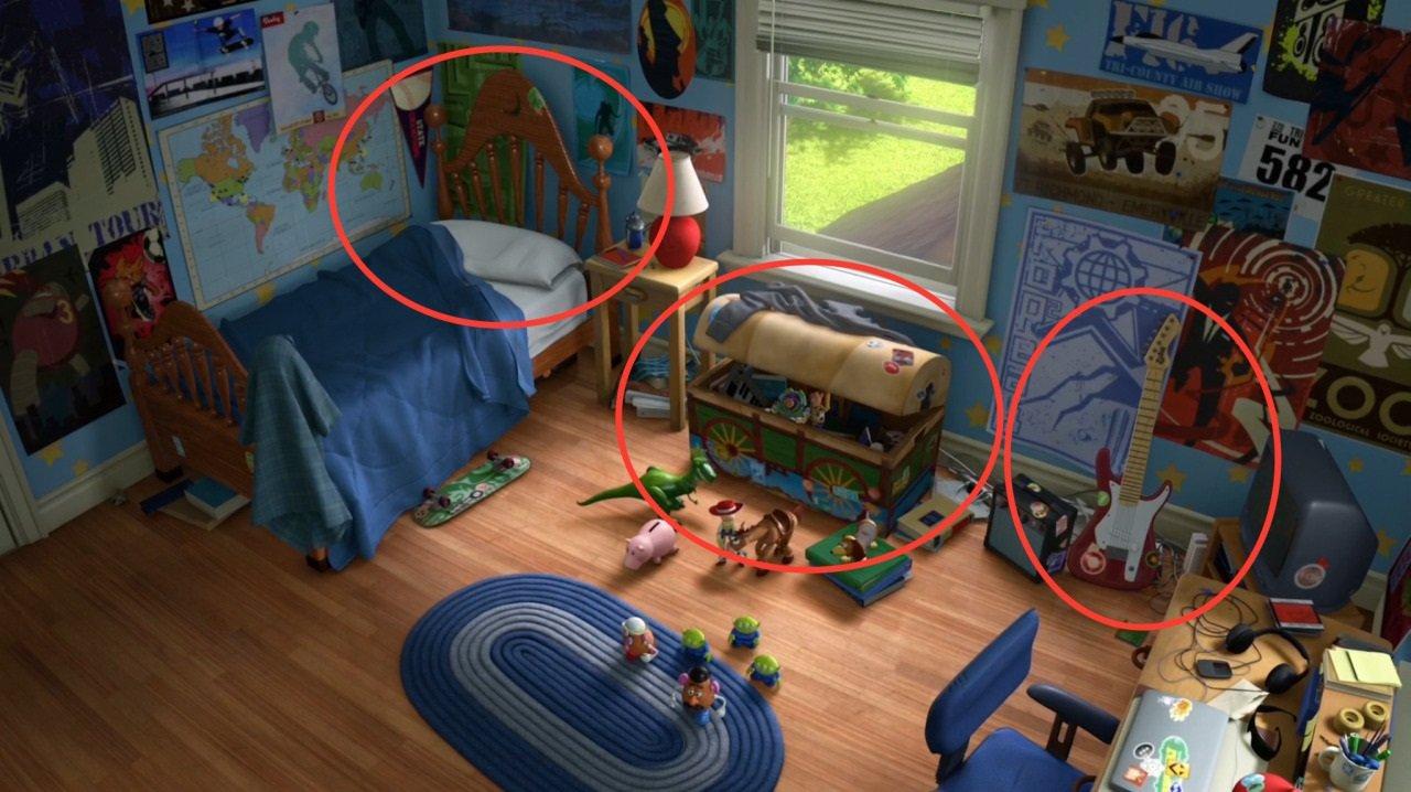 Os detalhes do quarto em imagem ampla retirada do filme