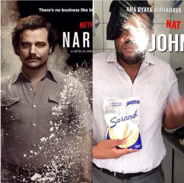 """Wagner Moura, como Pablo Escobar em """"Narcos"""""""