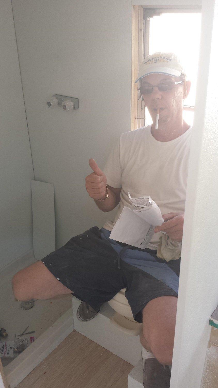 Banheiro instalado!