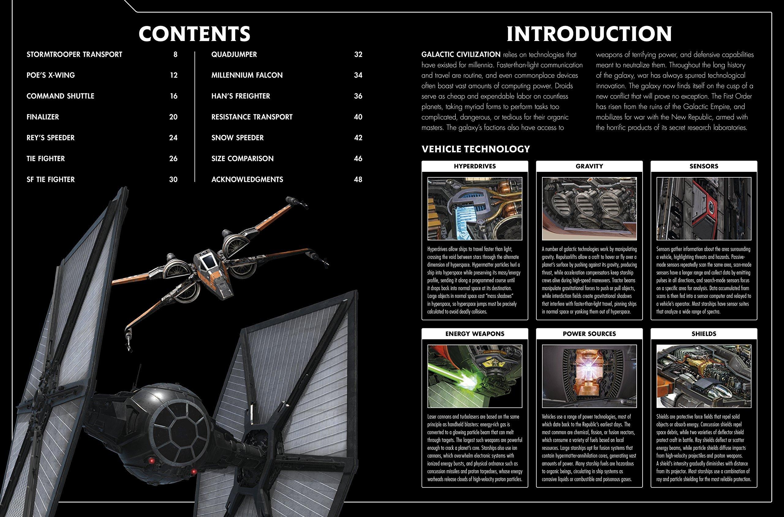 Livro traz ilustrações em corte de todas as naves de O Despertar da Força