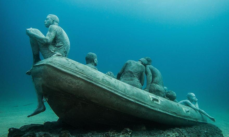 Museu submerso no Atlântico servirá como galeria e recife artificial