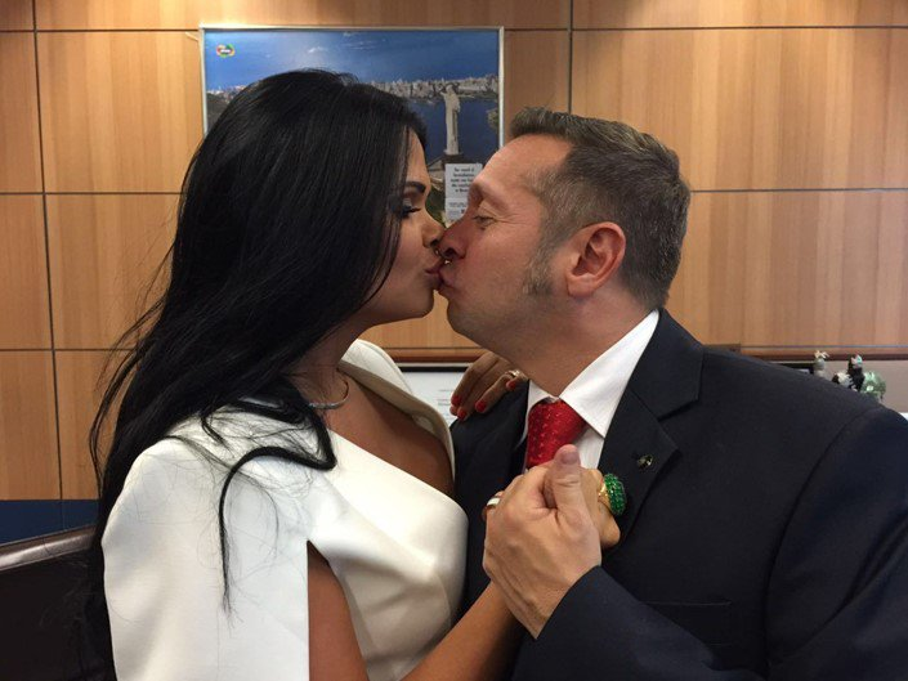 Milena Santos e Alessandro Teixeira