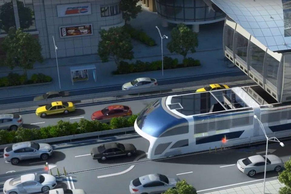 Conheça o projeto de ônibus suspenso que parece engolir o trânsito - Mega Curioso