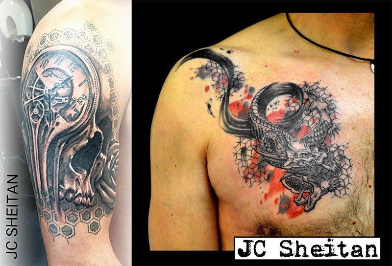 Artista ganha prótese com máquina de tatuar embutida