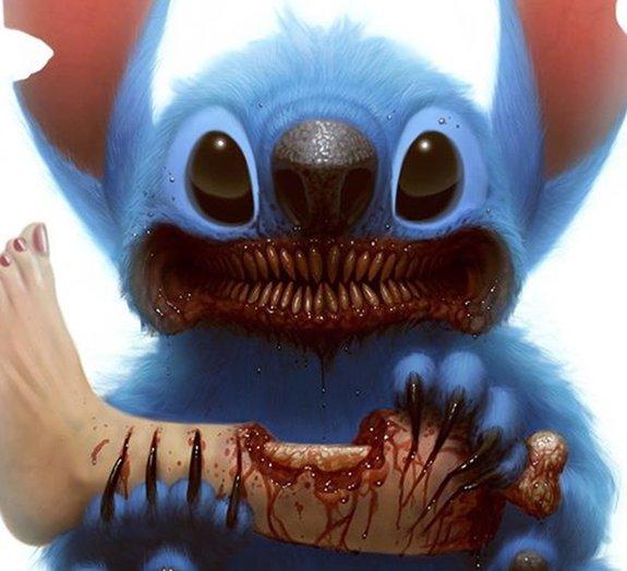 Artista transforma personagens infantis em monstros