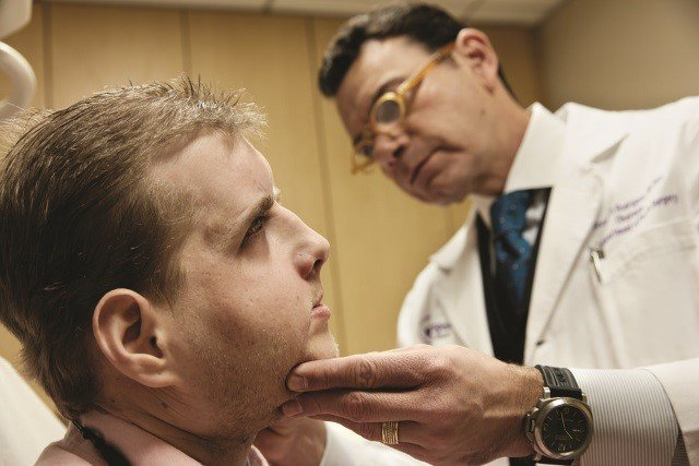 Durante um check up médico