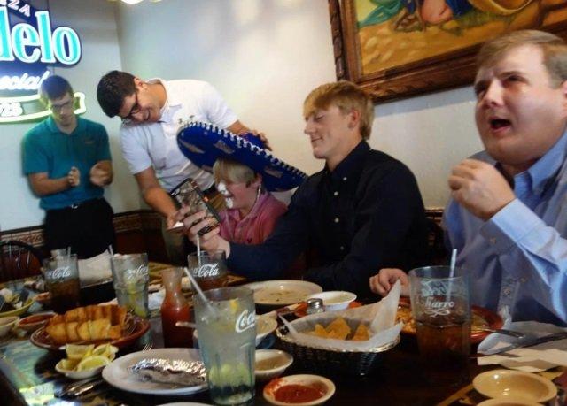 Jantando com a família