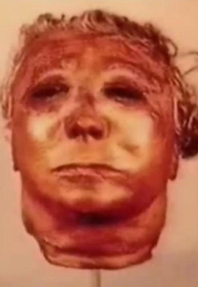 Uma das máscaras humanas de Gein