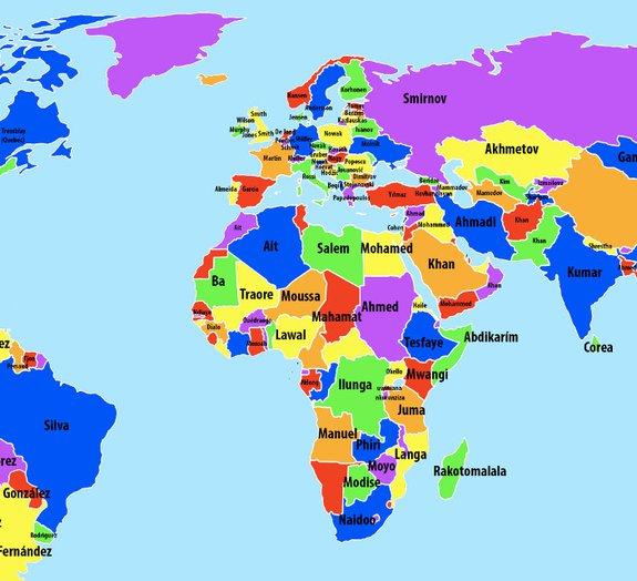Estes são os sobrenomes mais populares ao redor do mundo