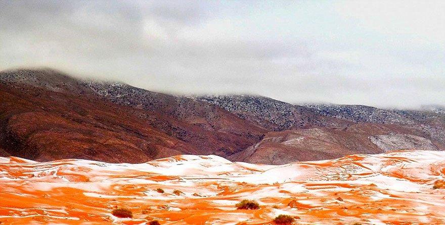 Nevou no Saara! Veja como foi