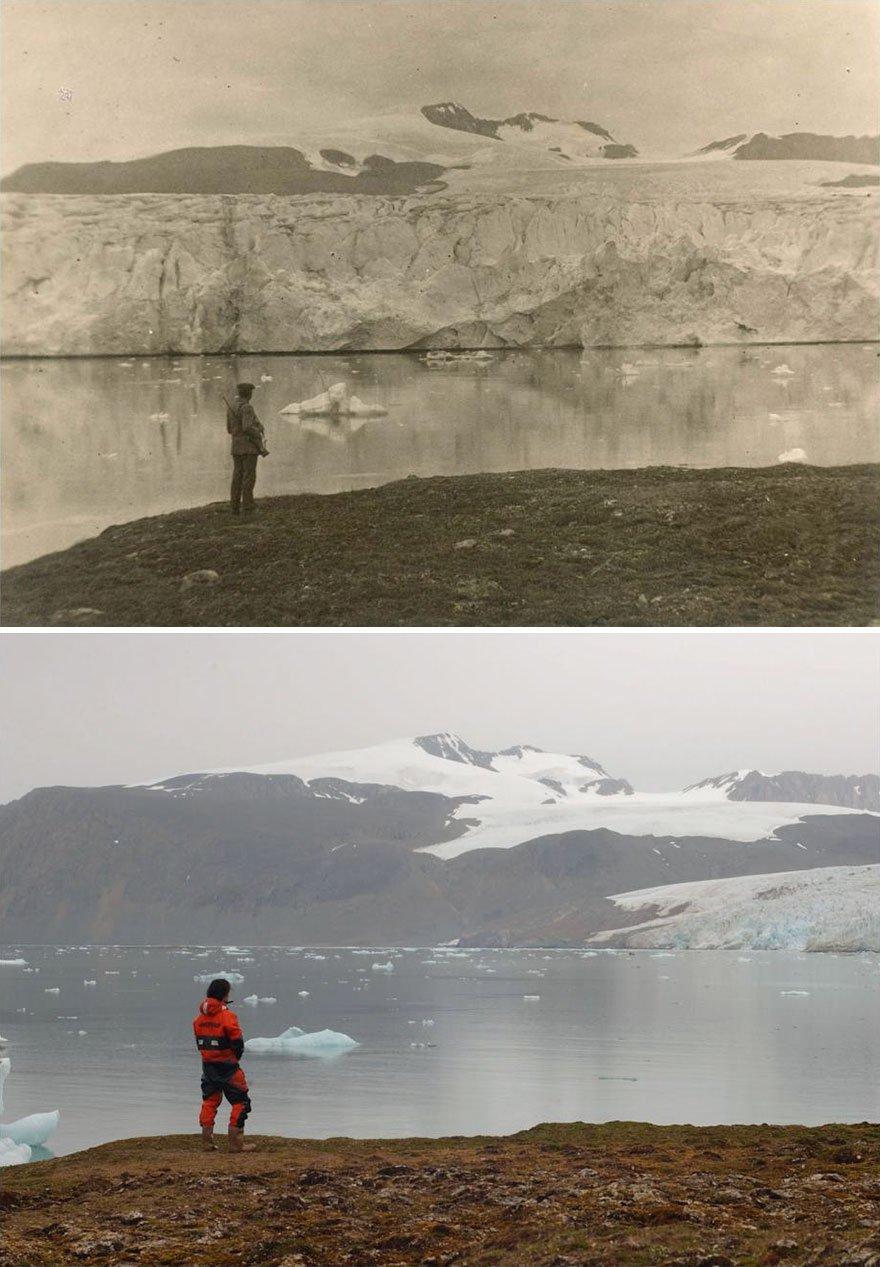 Estas fotos revelam mudanças climáticas ao longo de 100 anos no Ártico
