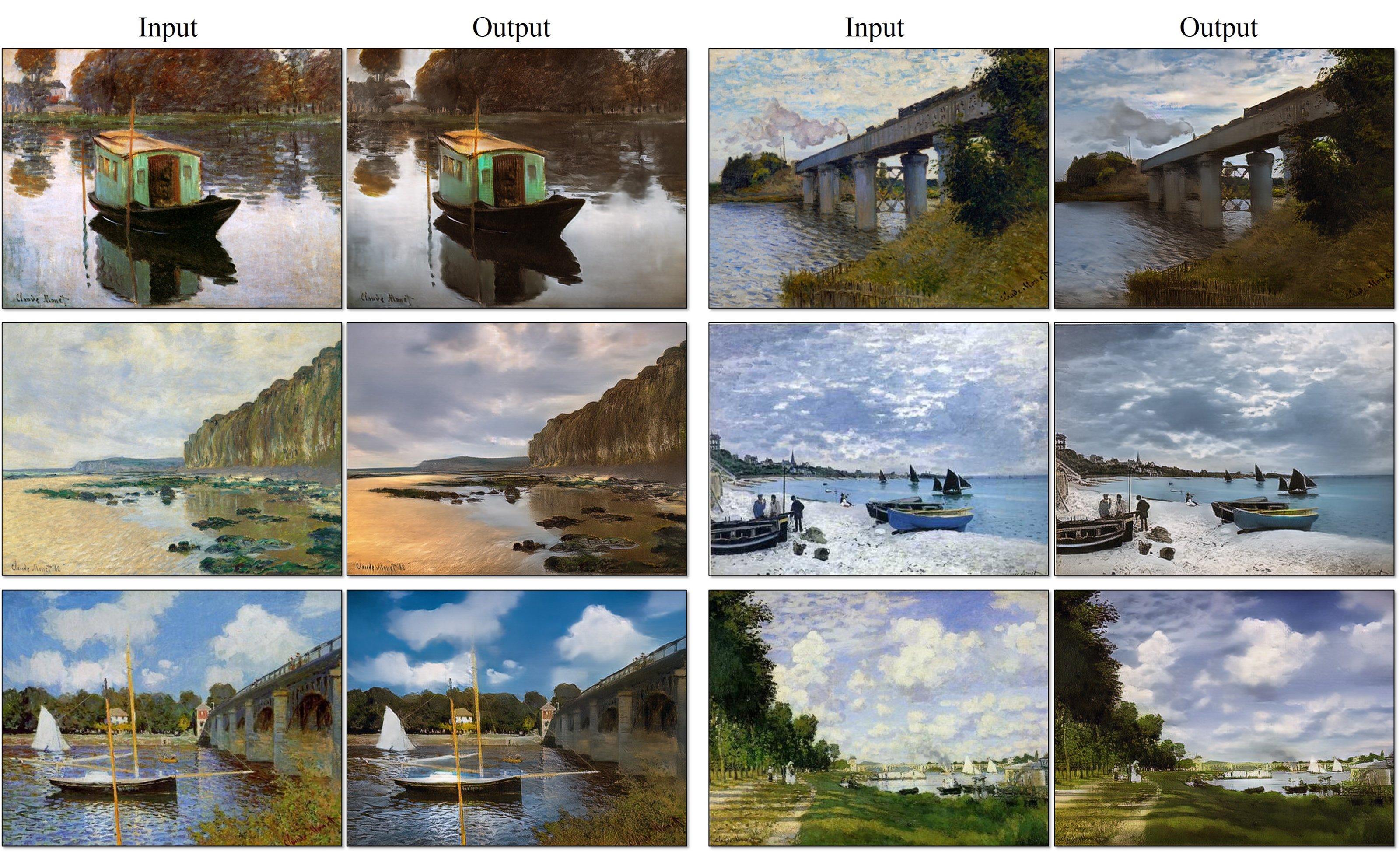 O Prisma reverso: veja a IA que transforma quadros de Monet em fotos reais