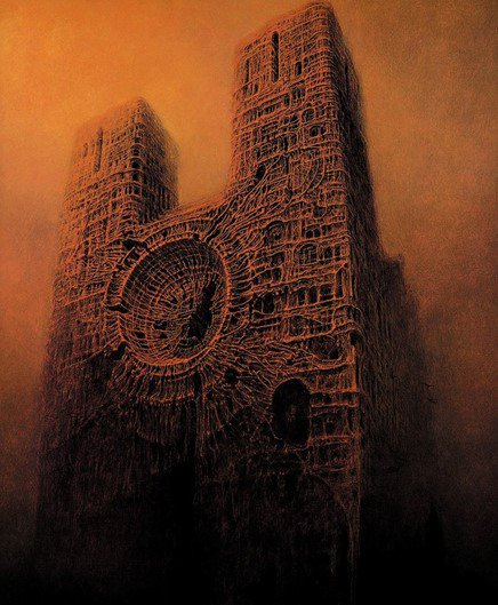 O trabalho do polonês que transformou pesadelos em pinturas fantásticas