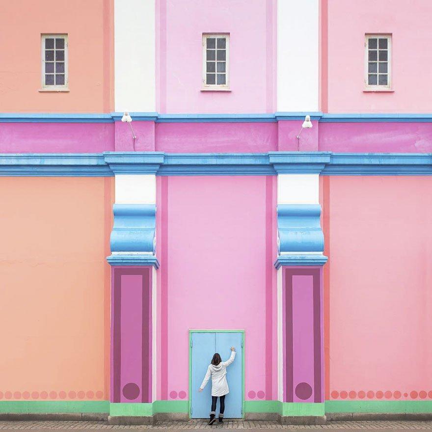 Este casal fez fotos arquitetonicamente lindas ao redor do mundo