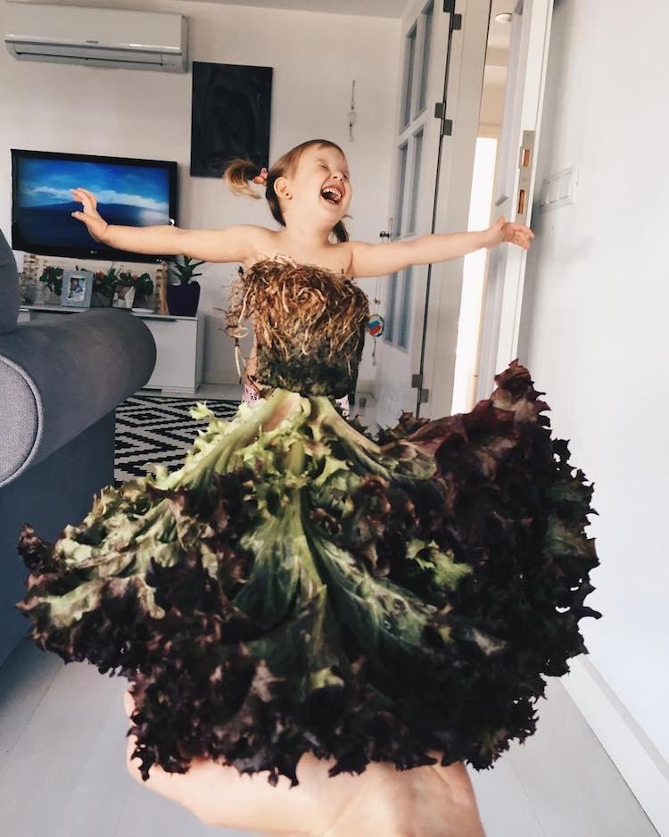 """Artista """"veste"""" sua filha com elementos da natureza e o resultado é lindo"""