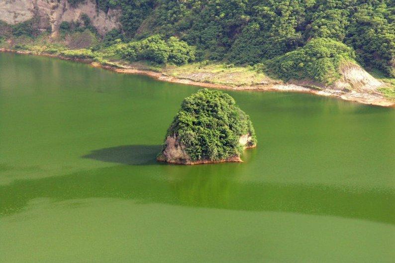 Detalhe da ilha Ponto do Vulcão