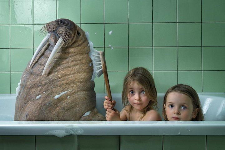Com suas 3 filhas, este fotógrafo faz as imagens simplesmente incríveis