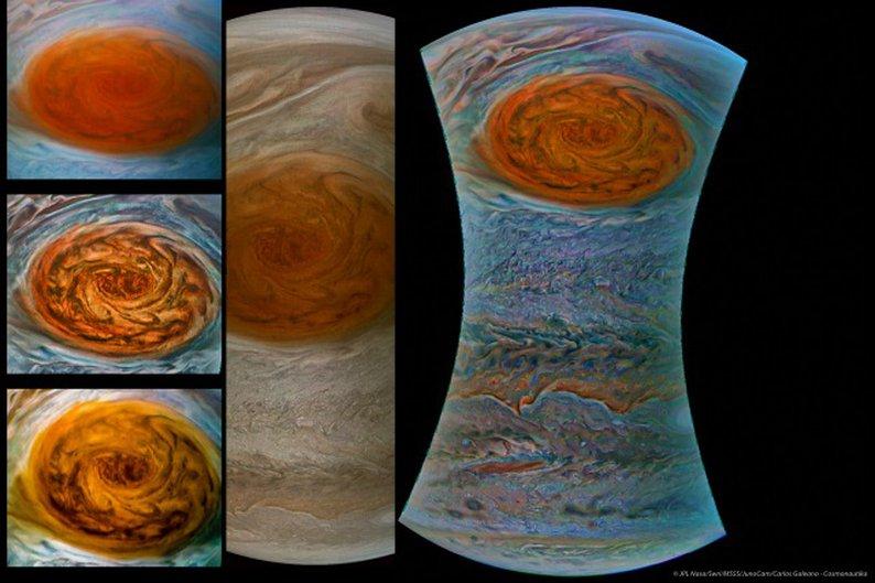 (JPL NASA/Swri/MSSS/JunoCam/Carlos Galeano - Cosmonautika © PUBLIC DOMAIN)