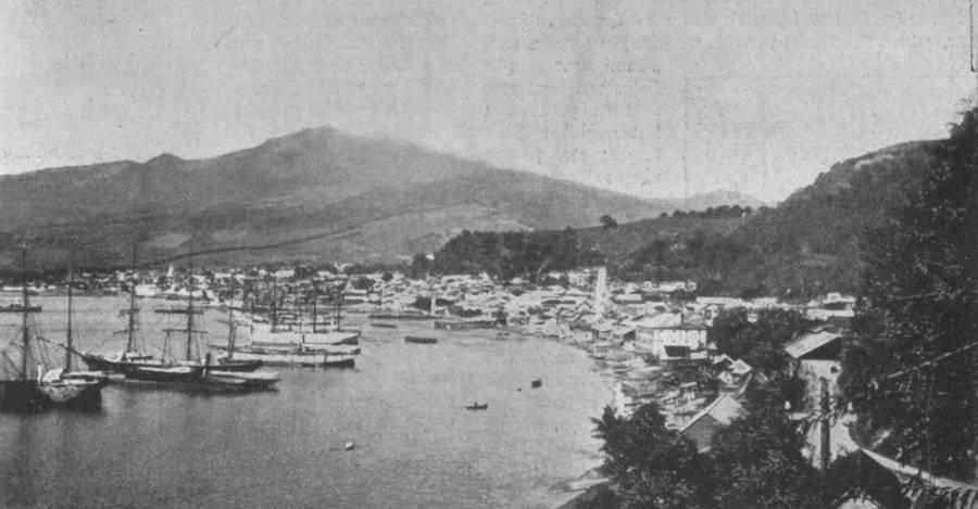 Saint-Pierre pouco antes da destruição