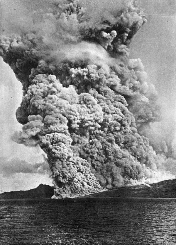 A erupção do Monte Pelée