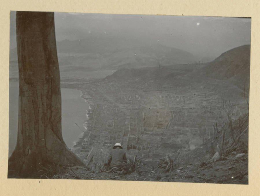Imagem do alto de Saint-Pierre