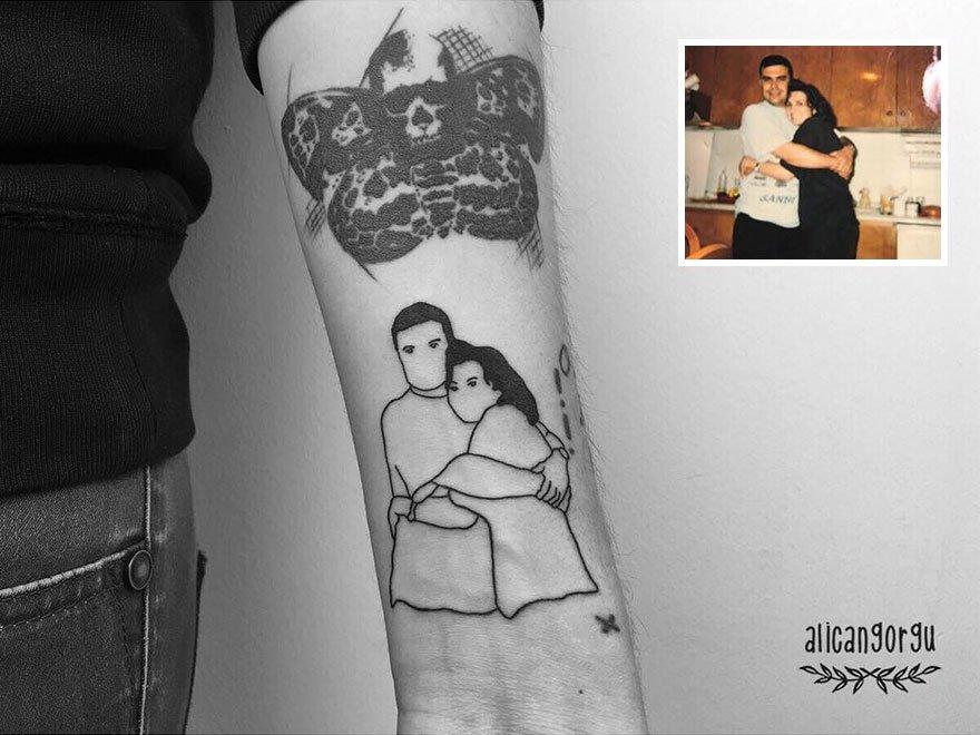 Já pensou em suas fotos favoritas do passado transformadas em tatuagens?