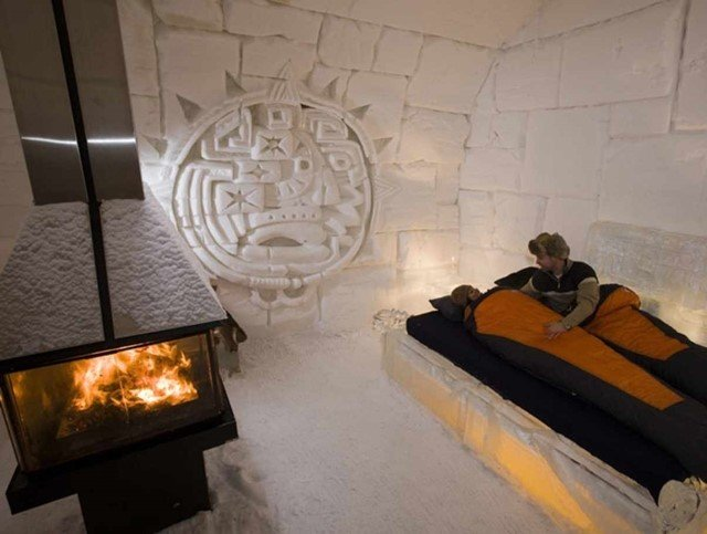 Neste hotel canadense absolutamente tudo é feito de gelo