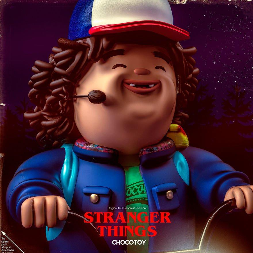 Como seria se as personagens de Stranger Things fossem brinquedos?