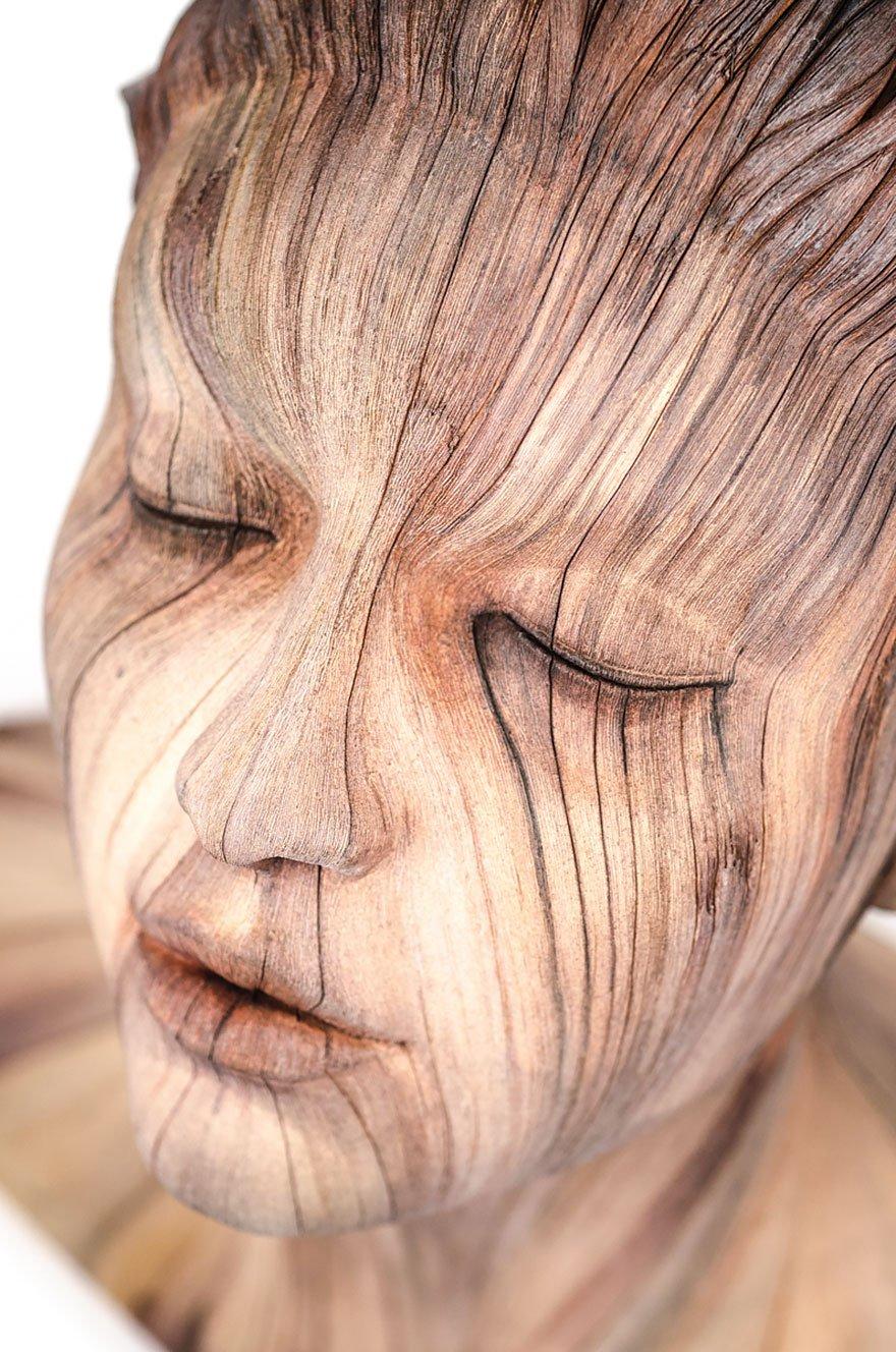 Parece madeira, mas é cerâmica! Conheça o trabalho incrível deste escultor
