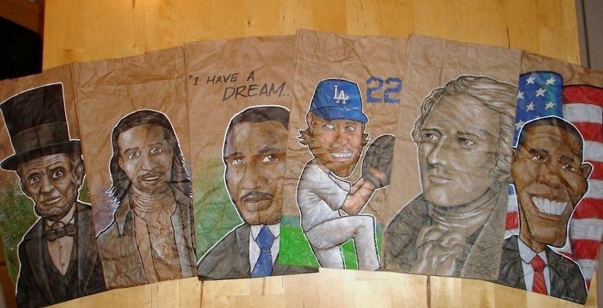 Pai desenha nas embalagens de lanches do filho para ajudá-lo a fazer amigos