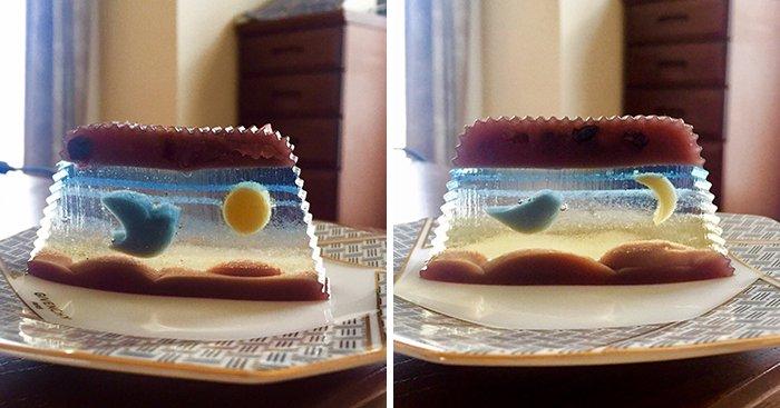 Sonho de consumo: este bolo transparente com desenhos que se transformam